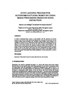 auto landing process for autonomous flying robot by using ... - AIRCC