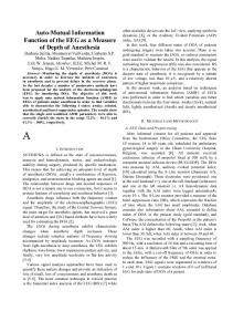 Auto Mutual Information Function of the EEG as a ...
