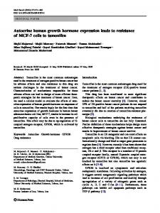 Autocrine human growth hormone expression leads to ... - Springer Link
