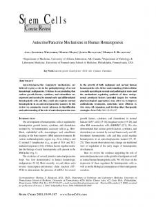 Autocrine/Paracrine Mechanisms in Human ... - Wiley Online Library