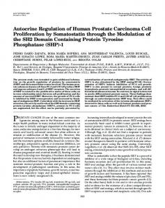 Autocrine Regulation of Human Prostate Carcinoma Cell ... - UAH