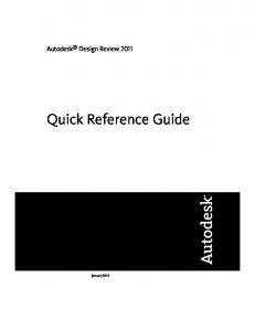 Autodesk Design Review 2011 Quick Reference Guide