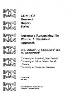 Automata Recognizing No Words: A Statistical Approach