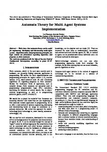 Automata Theory for Multi-Agent Systems Implementation