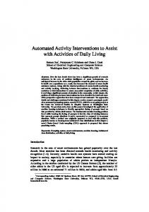 Automated Activity Interventions to Assist with Activities of Daily Living