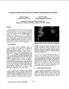 Automated analysis and detection of cracks in ... - CiteSeerX