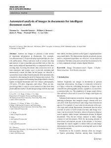 Automated analysis of images in documents for ... - C. Lee Giles