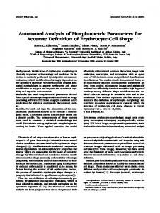 morphometric essay In their essay schwartz and associates cited that the function of the adenohypophysis probably  morphometric analysis was performed on digital images.