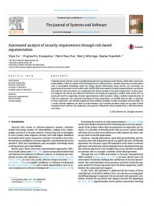 Automated analysis of security requirements ... - Semantic Scholar