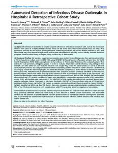 Automated Detection of Infectious Disease ... - Semantic Scholar