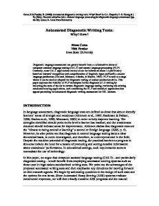 Automated Diagnostic Writing Tests