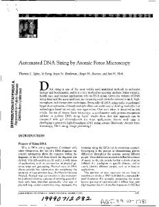 Automated DNA Sizing by Atomic Force Microscopy.