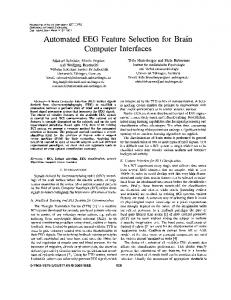 Automated EEG feature selection for brain computer interfaces ...