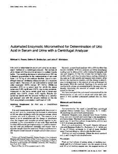 Automated Enzymatic Micromethod for ... - Clinical Chemistry