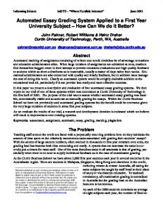 Automated Essay Grading System Applied to a First Year University ...