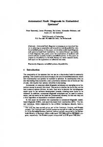 Automated Fault Diagnosis in Embedded Systems* - Computer ...