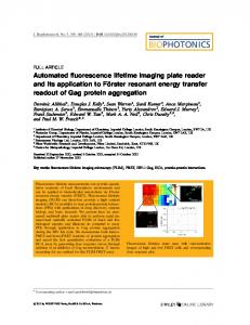 Automated fluorescence lifetime imaging plate reader and its ...