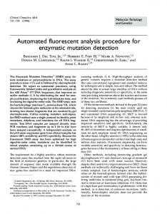 Automated fluorescent analysis procedure for ... - Clinical Chemistry