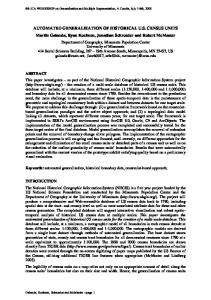 AUTOMATED GENERALIZATION OF HISTORICAL ... - Semantic Scholar