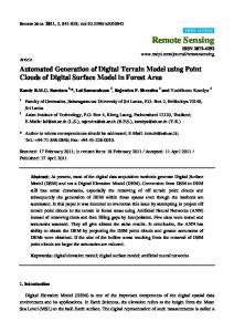 Automated Generation of Digital Terrain Model using Point Clouds of ...