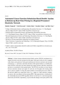Automated Linear Function Submission-Based Double Auction ... - MDPI