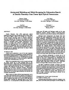 Automated Modeling and Mode Screening for Exhaustive Search of ...
