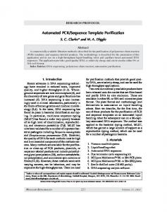 Automated PCR/sequence template purification - Springer Link