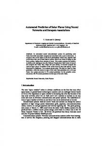 Automated Prediction of Solar Flares Using Neural Networks and ...