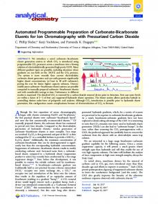 Automated Programmable Preparation of ... - ACS Publications