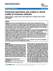 Automated quantitative gait analysis in animal ... - BioMedSearch