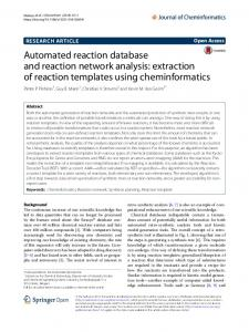 Automated reaction database and reaction network analysis ...