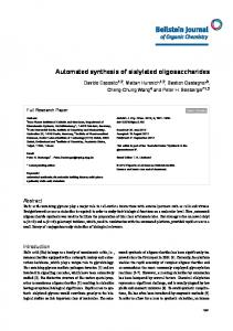 Automated synthesis of sialylated oligosaccharides - Beilstein Journal