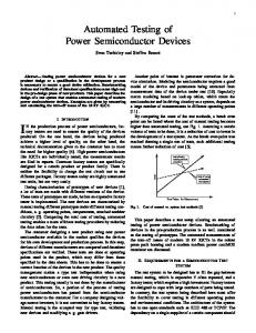 Automated Testing of Power Semiconductor Devices
