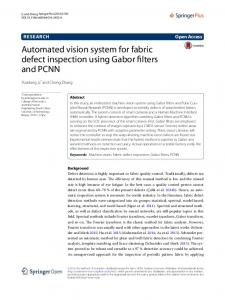 Automated vision system for fabric defect ... - Semantic Scholar
