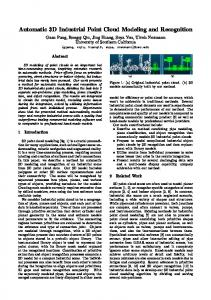 Automatic 3D Industrial Point Cloud Modeling and Recognition