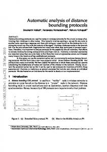 Automatic analysis of distance bounding protocols - Semantic Scholar