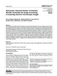 Automatic characterization of titanium dioxide ... - SAGE Journals