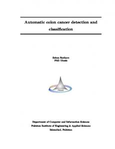 Automatic colon cancer detection and classification
