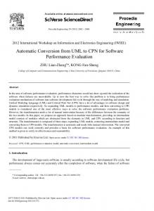 Automatic Conversion from UML to CPN for Software ... - Science Direct