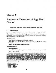 Automatic Detection of Egg Shell Cracks