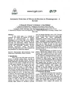 Automatic Detection of Microcalcification in ... - Semantic Scholar