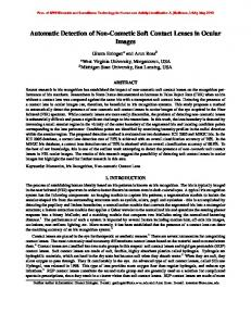 Automatic Detection of Non-Cosmetic Soft Contact Lenses ... - MSU CSE