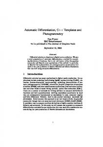 Automatic Differentiation, C++ Templates and ... - Semantic Scholar