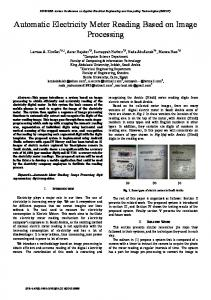 Automatic Electricity Meter Reading Based on Image ... - IEEE Xplore