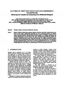 automatic emotion induction and assessment ... - Semantic Scholar
