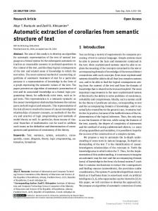 Automatic extraction of corollaries from semantic ...