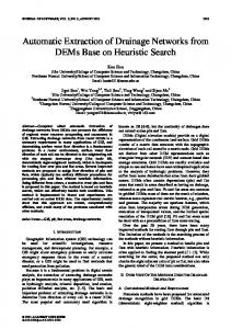 Automatic Extraction of Drainage Networks from ... - Semantic Scholar