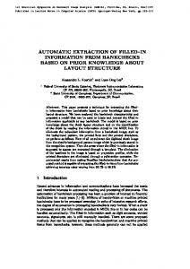 automatic extraction of filled in information from ... - Semantic Scholar