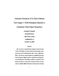 Automatic Extraction of Go Game Positions from ... - Semantic Scholar