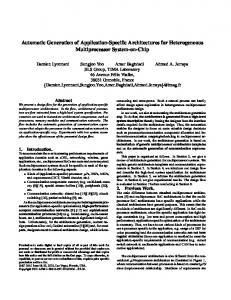 Automatic Generation of Application-Specific